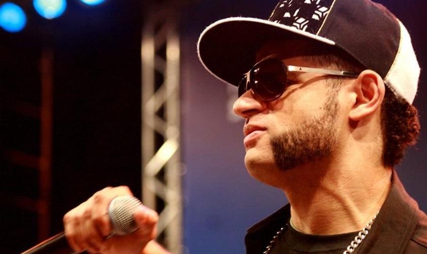 Feijão, um dos vocalistas do grupo de rap cristão Ao Cubo. (Flickr/ Diogo França)