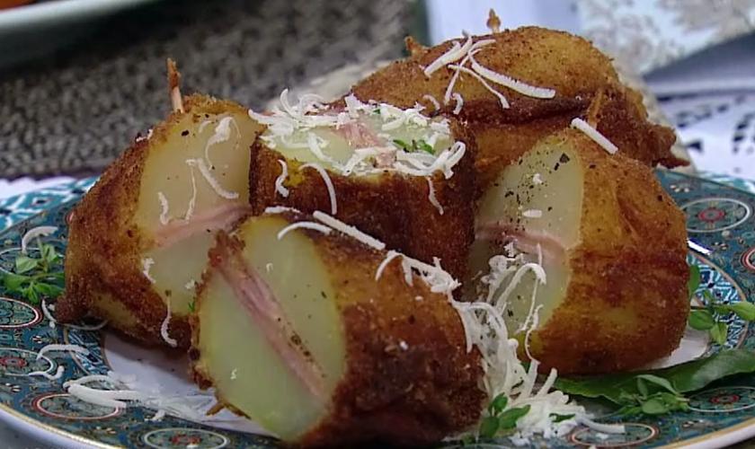 Batatas fritas recheadas