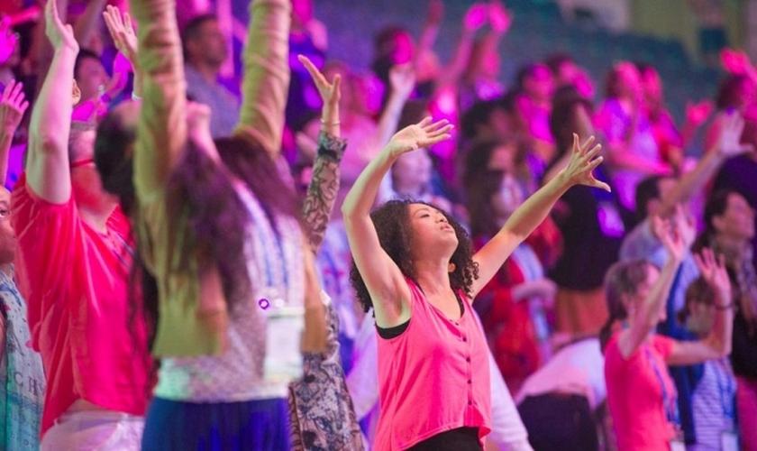 Evangélicos no festival da Festa dos Tabernáculos em Jerusalém. (Foto: ICEJ)