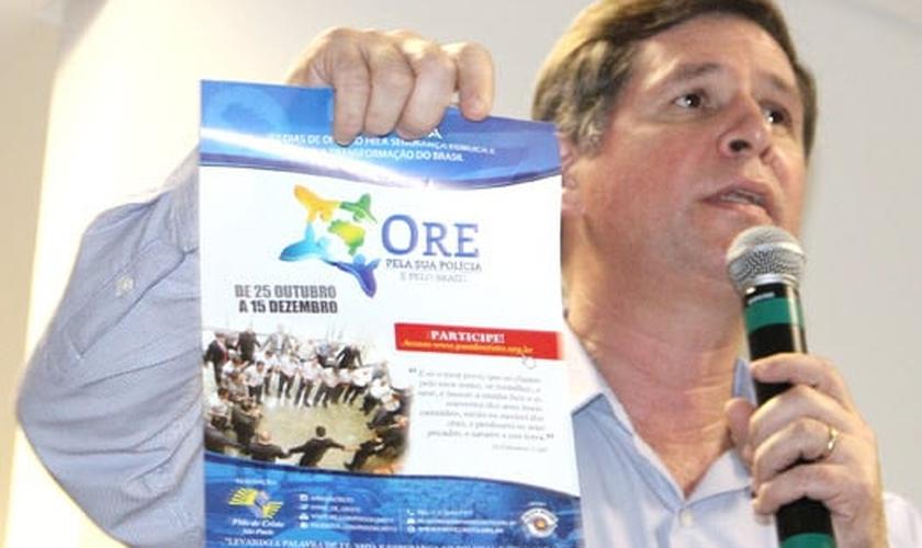 """Coronel Terra fala sobre a quarta edição da Campanha """"Ore Pela Sua Polícia"""", idealizada pelos PMs de Cristo. (Foto: Divulgação)"""