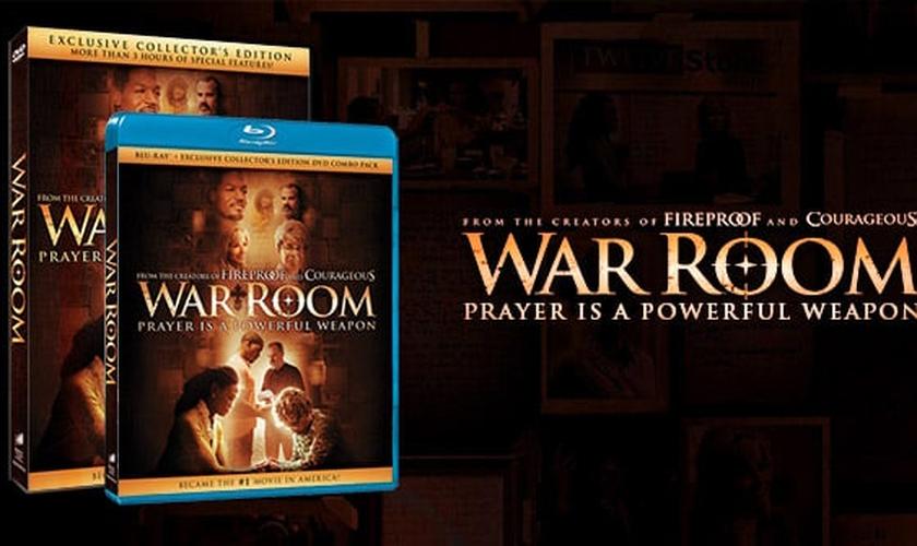 DVD e Blu-ray do filme Quarto de Guerra