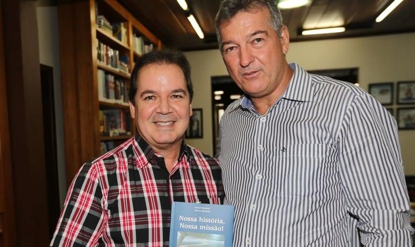 Daniel Batistela e Tião Viana (Imagem:Sérgio Vale/Secom)