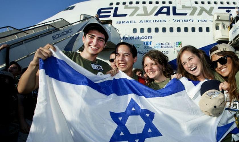 A aliá brasileira forma o sétimo maior grupo de imigrantes para Israel. (Foto: Moshe Shai/ FLASH90)