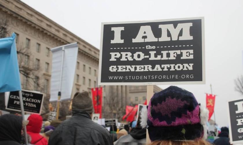 Manifestantes pró-vida participaram de ato contra o aborto, em Washington, D.C, na última segunda-feira. (Foto: Christian Post)