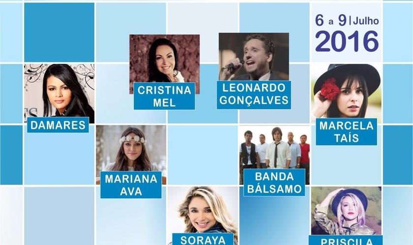 Confirmada a presença de Damares, Cristina Mel, Mariana Ava, Banda Bálsamo e outros cantores. (Foto: Divulgação).