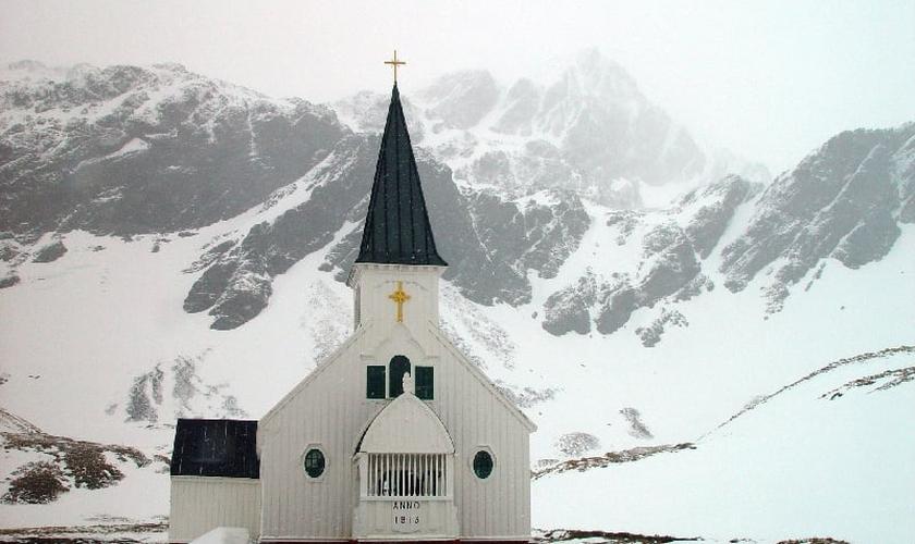 Igreja Luterana da Noruega em Grytviken, em 2004. (Foto: Wikipedia)