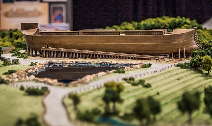Maquete do Parque 'Ark Encounter', que será inaugurado em Kentucky, no dia 07 de julho. (Foto: Answers in Genesis)