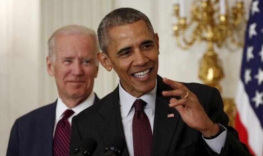 Presidente Barack Obama faz discurso durante o último Café Matinal com Oração de Páscoa, na Casa Branca. (Foto: Reuters)