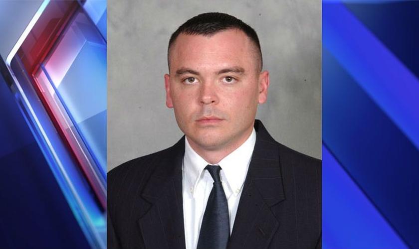 Brian Hamilton tem 40 anos de idade e 14 de carreira na Polícia Estadual de Indiana. (Imagem: Fox 59)