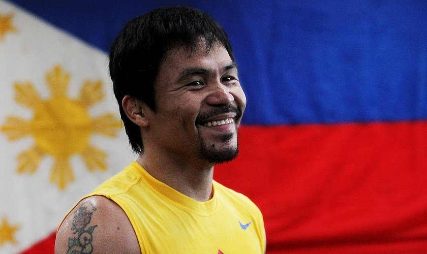 Manny Pacquiao é campeão mundial de boxe e agora pretende investir em sua carreira como político em seu país. (Foto: LA Times)
