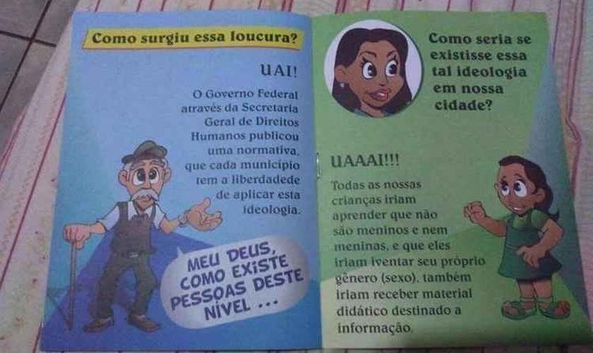 A cartilha tem o objetivo de alertar estudantes e suas respectivas famílias sobre os perigos da ideologia de gênero. (Foto: Estadão)