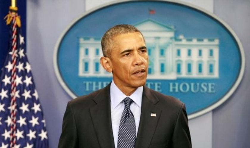 Da Casa Branca, o presidente dos EUA, Barack Obama fala sobre o pior tiroteio em massa na história EUA, ocorrido neste domingo, em Orlando. (Foto: Reuters)