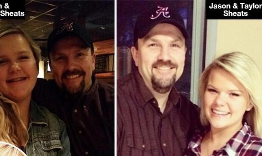 Jason Sheats com suas duas filhas. (Imagem: Hollywood Life)