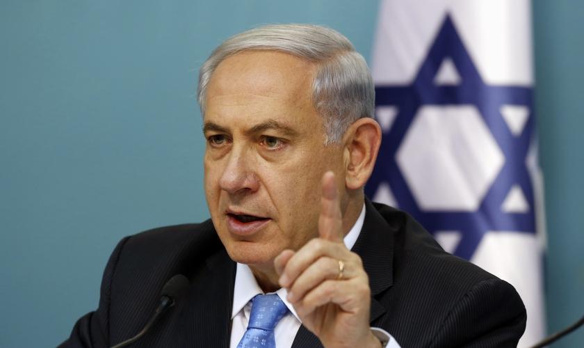 Netanyahu descreveu o elo comum entre judeus e cristãos apresentado na terra da Bíblia. (Foto: AFP).