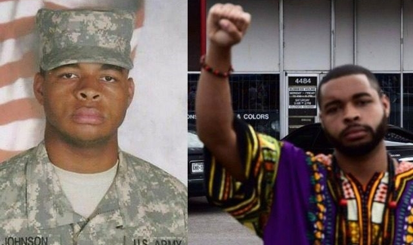 MIcah Xavier, de 25 anos, matou cinco policiais e feriu outras sete pessoas durante um protesto do movimento 'Black Lives Matter' em Dallas, Texas (EUA) na última quinta-feira. (Imagem: Christian Post)