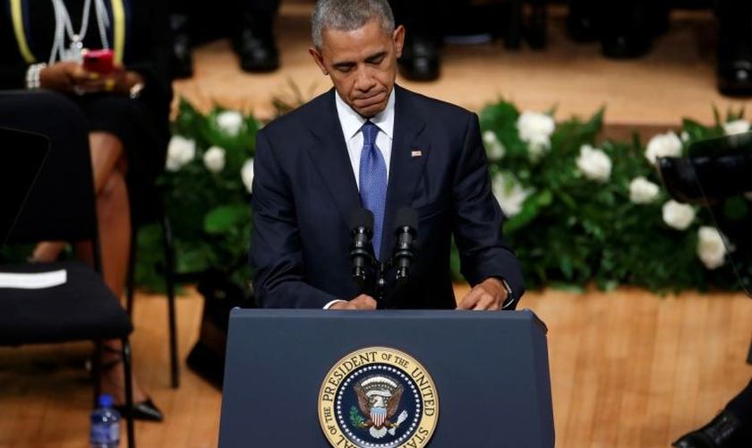 O Presidente chegou a citar quatro versículos da Bíblia. (Foto: Reuters).