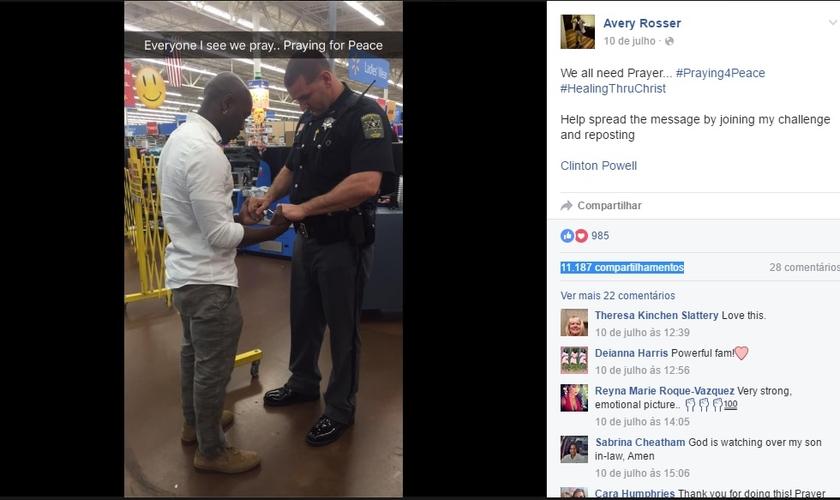 Segundo Rosser, o desafio é que os conflitos - sobretudo entre negros e policiais brancos - sejam vencidos também por meio da oração. (Imagem: Facebook)