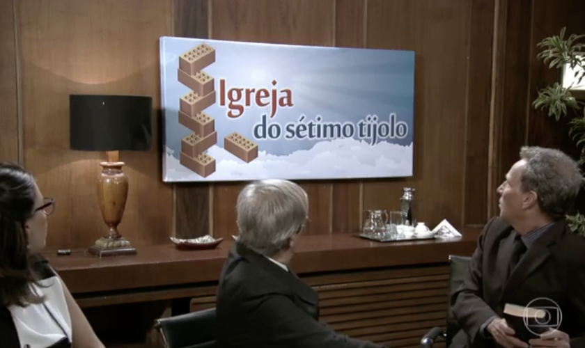 Em chacota com igrejas, Zorra fez referência à Igreja Adventista do Sétimo Dia. (Foto: Reprodução/TV Globo)