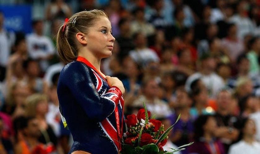 Shawn Johnson é ginasta e medalhista de ouro. (Foto: womenssportsfoundation)