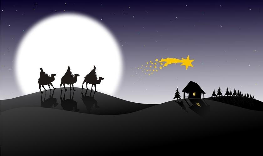 Magos seguindo a estrela que os levaria até o menino Jesus. (Foto: epreditora)