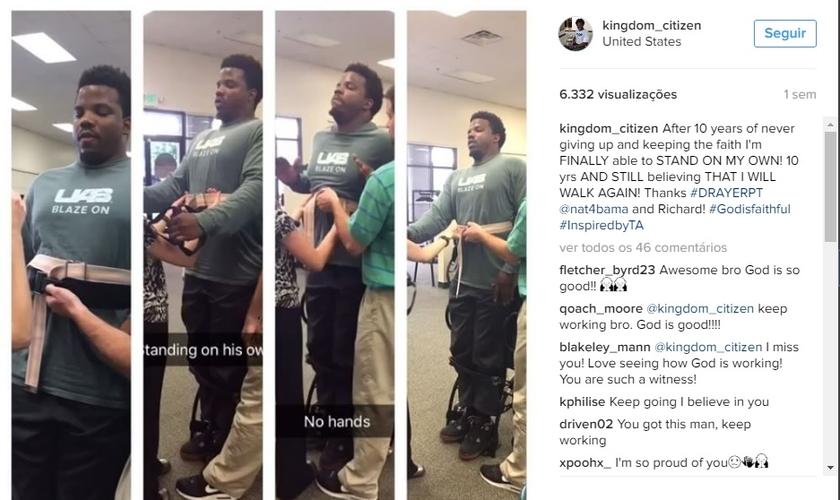Publicação de vídeos de TImothy Alexander em seu Instagram. (Imagem: Instagram)