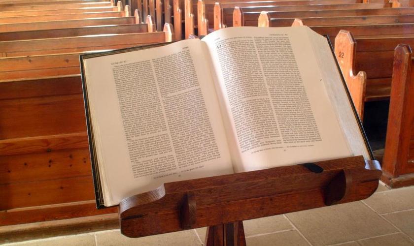 Púlpito vazio.  (Foto: La Sã Doctrina)