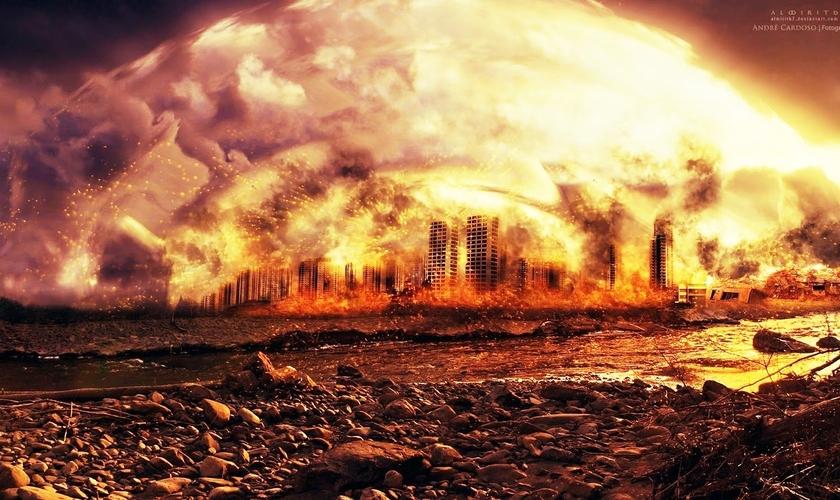 Imagem sugere como poderia ser o fim do mundo. (Imagem: Youtube)