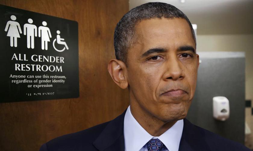 Em uma entrevista à BuzzFeed News, Obama argumentou que tal medida era necessária para proteger a dignidade das pessoas transexuais. (Imagem: ChurchMilitant)