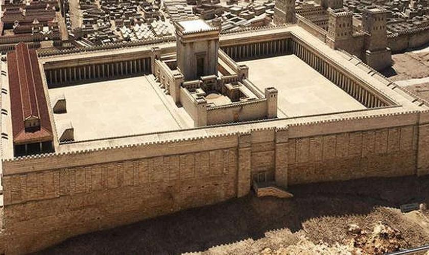 Réplica do segundo templo judeu chama a atenção pela riqueza de detalhes. (Foto: CBN)