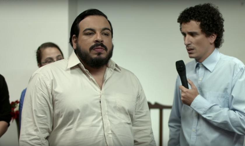 """Cena da esquete """"Satanás"""", do Porta dos Fundos. (Imagem: Youtube)"""