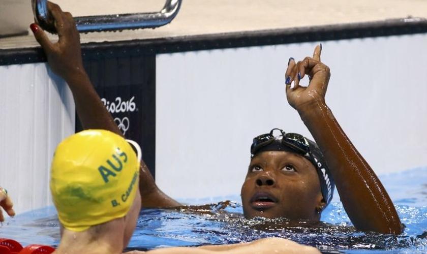 A nadadora já havia ganhado uma medalha de prata em uma corrida de revezamento. (Foto: Reuters).