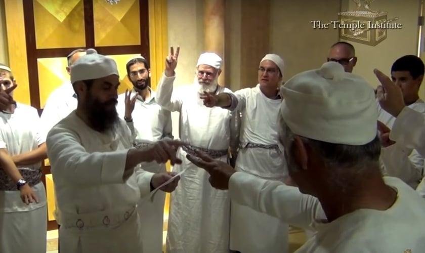 Descendentes da Tribo de Levi participam de treinamentos para o serviço no Terceiro Templo. (Imagem: Youtube)