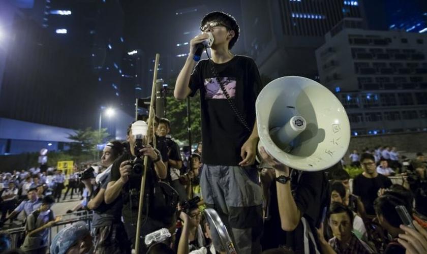 Wong disse em sua conta oficial no Twitter que ele não se arrepende de seu envolvimento. (Foto: Reuters).