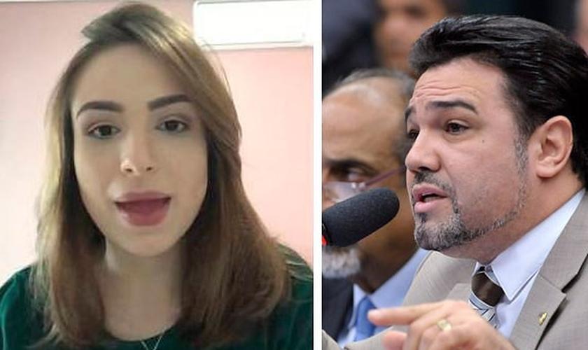 Patrícia Lélis acusa Marco Feliciano de estupro e sequestro, mas agora está investigada por extorsão. (Imagem: Revolta Brasil)