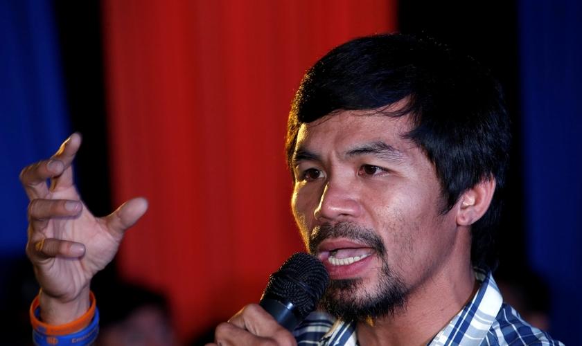 Depois de se aposentar do boxe, Manny Pacquiao foi eleito senador em seu país. (Foto: Reuters)