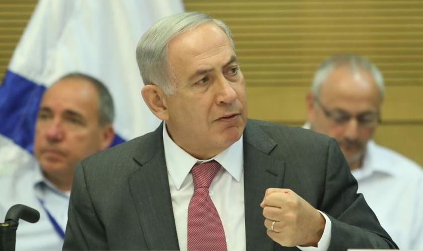 Primeiro-ministro de Israel, Benjamin Netanyahu, na Comissão de Controle do Estado. (Foto: Marc Israel Sellem)