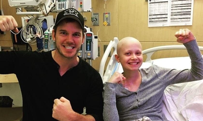 Chris Pratt é ator e tem o costume de visitar crianças com câncer e orar por elas nos hospitais. (Foto: Instagram)
