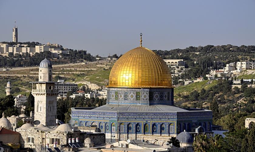 Monte do Templo e vista da Cúpula Dourada. (Foto: Ido Keynan)