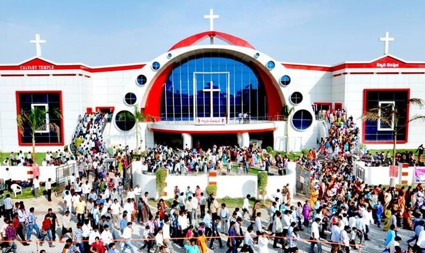 """Igreja """"Templo do Calvário"""", na Índia. (Foto: Facebook)"""