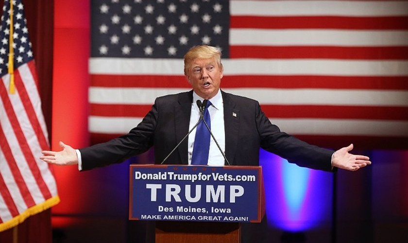 Donald Trump foi eleito presidente pelo Partido Republicano nos Estados Unidos. (Foto: CNN)