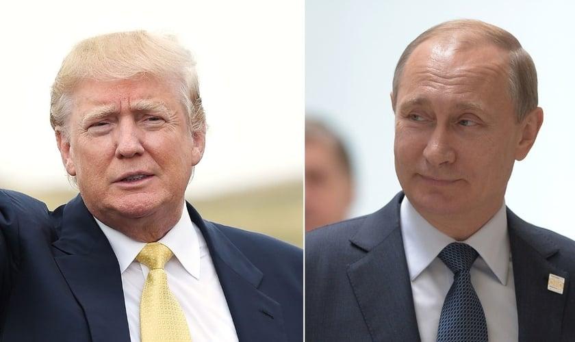 A eleição de Donald Trump (à esquerda) à presidência dos EUA torna possível a reaproximação com países, como a Rússia. (Imagem: CNN)