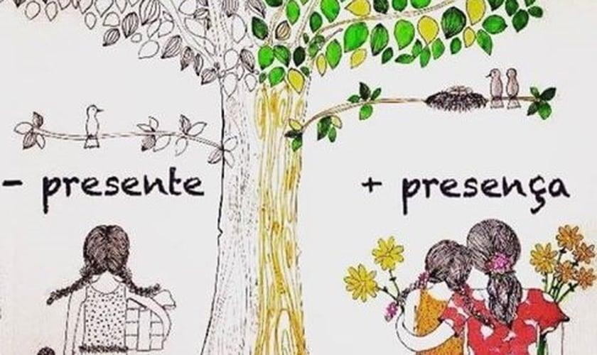 Menos presentes e mais presença. (Imagem: Facebook)