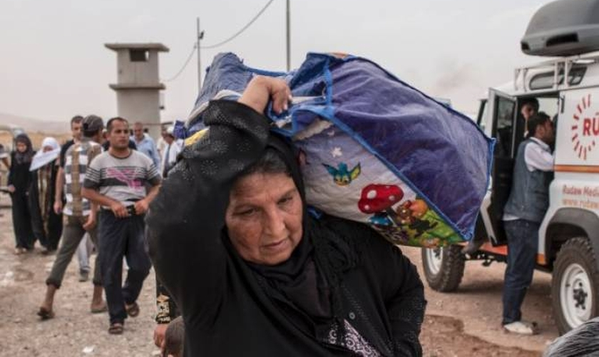 Um novo relatório descobriu que é improvável que esses cristãos deslocados retornem à sua terra natal. (Foto: AFP).