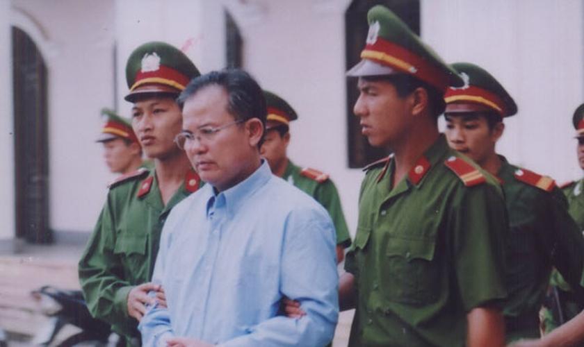 Antes de sua prisão, Nguyen Cong Chinh era um pastor protestante sincero e ativista da liberdade religiosa. (Foto: Reprodução).