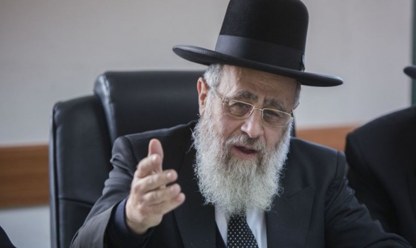 O rabino Yitzhak Yosef disse que os Estados Unidos abandonou Israel. (Foto: Yonatan Sindel/Flash90)