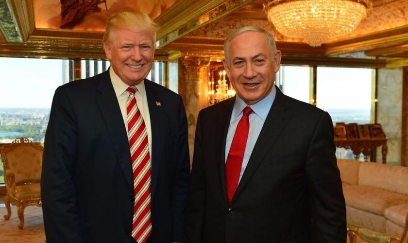 Donald Trump (esquerda) e Benjamin Netanyahu (direita). (Foto: Times Of Israel)