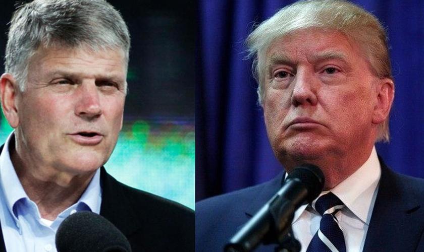 Pastor Franklin Graham (à esquerda) e o presidente eleito dos EUA, Donald Trump (direita). (Imamge: ConservativeTribune)