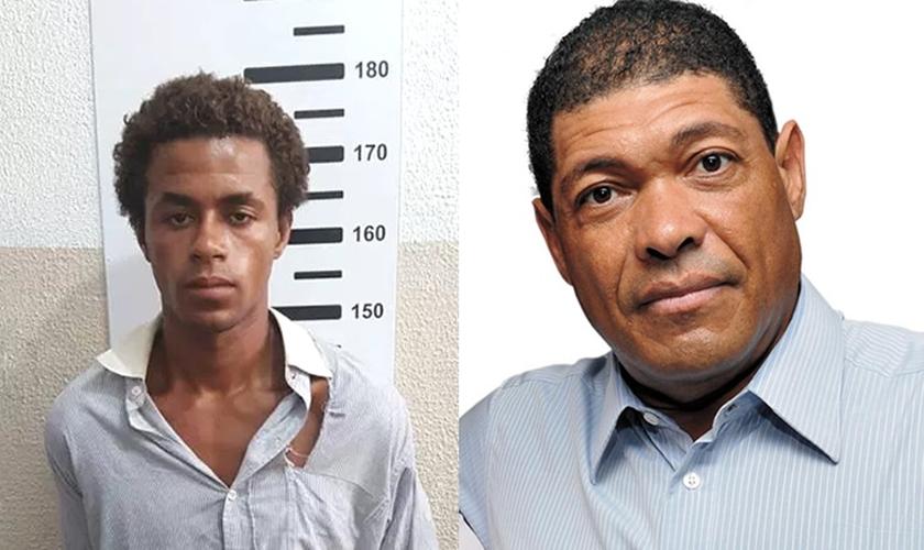 Jonathan Gomes Higino (esquerda) e Valdemiro Santiago (direita). (Imagem: Pindobaçu News)