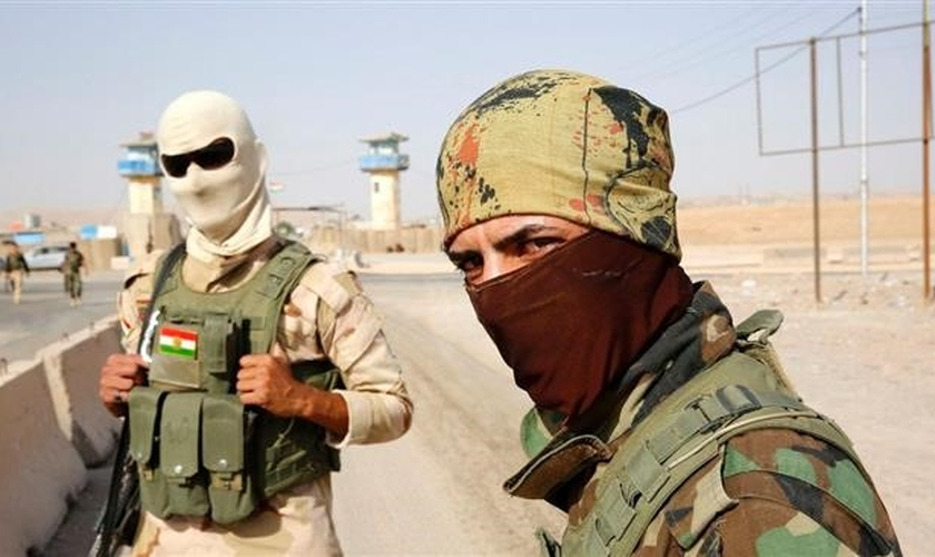 Soldados iraquianos, em Mosul. (Foto: Alalam News Network)