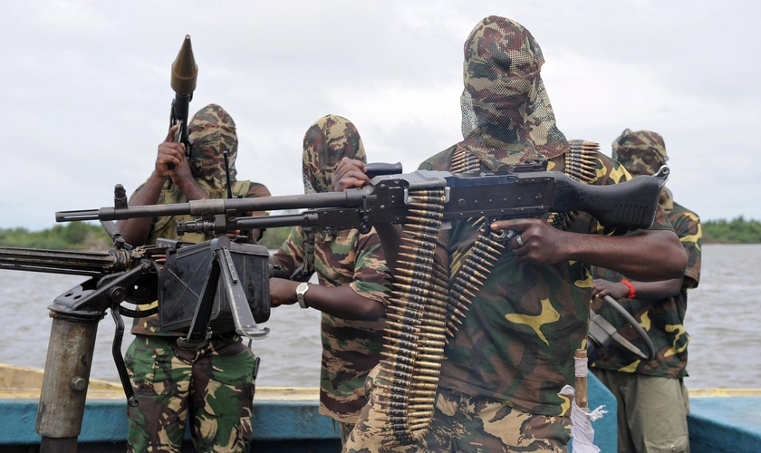 Terroristas do Boko Haram. (Foto: Emaze)